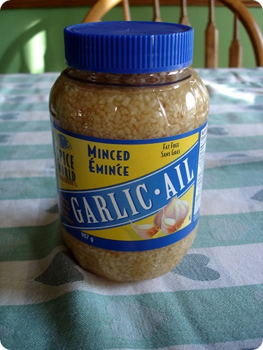 Minced Garlic October 11 2013