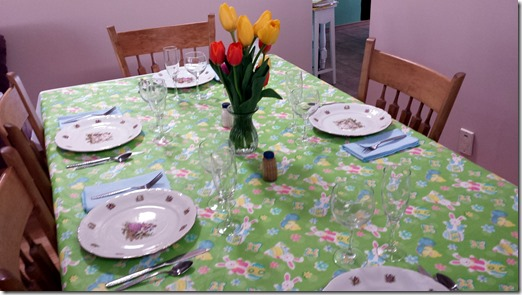 Easter Table April 20 2014