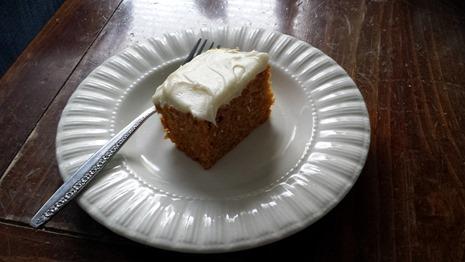 Piece of Pumpkin Cake September 9 2014