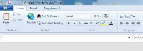 Windows Live Writer Left Toolbar October 13 2014