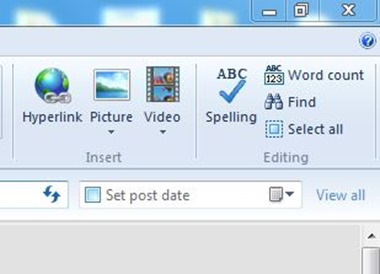 Windows Live Writer Right Toolber October 13 2014