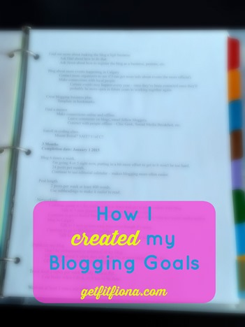 How I Created my Blogging Goals Pinterest January 12 2015