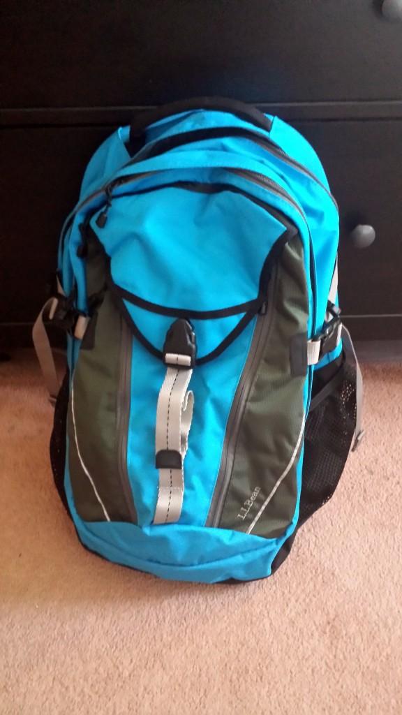 New LL Bean Backpack August 28 2014