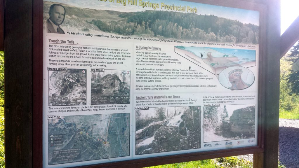 Big Hill Springs Provincial Park Map