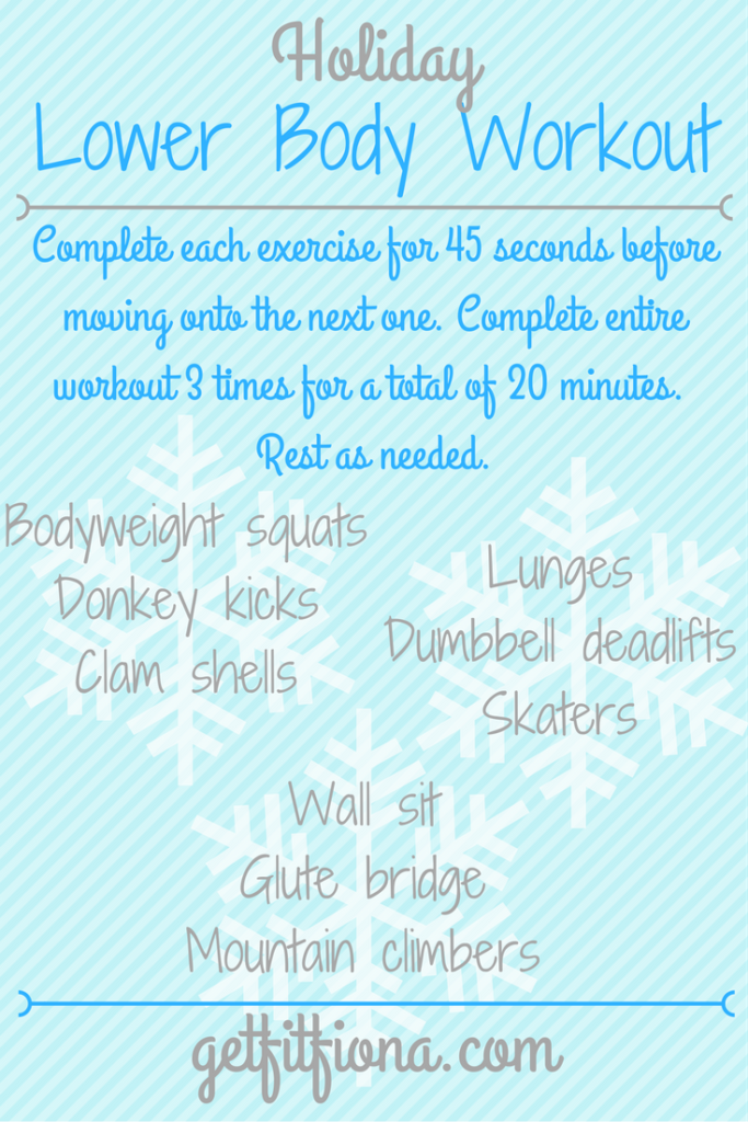Holiday Lower Body Workout