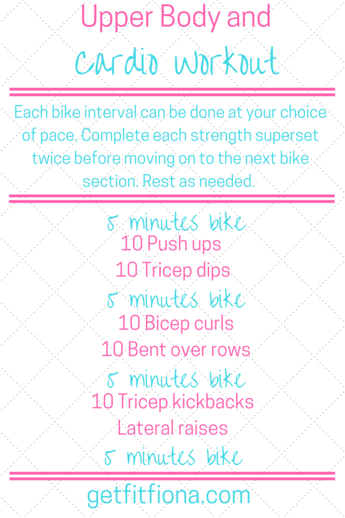 Upper Body and Cardio Workout