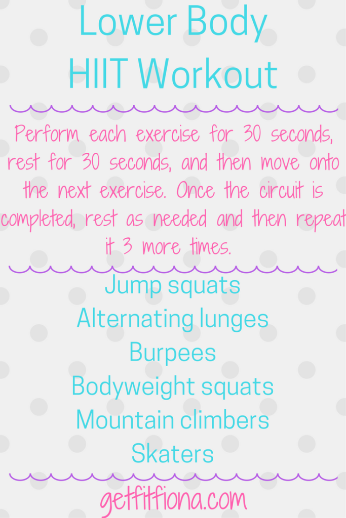 Lower Body HIIT Workout