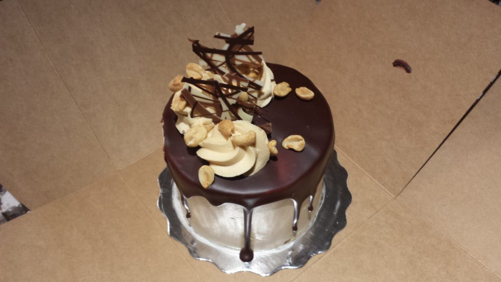 Sweet Relief Chocolate Peanut Butter Mini Cake