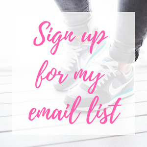 Sign up for my email list