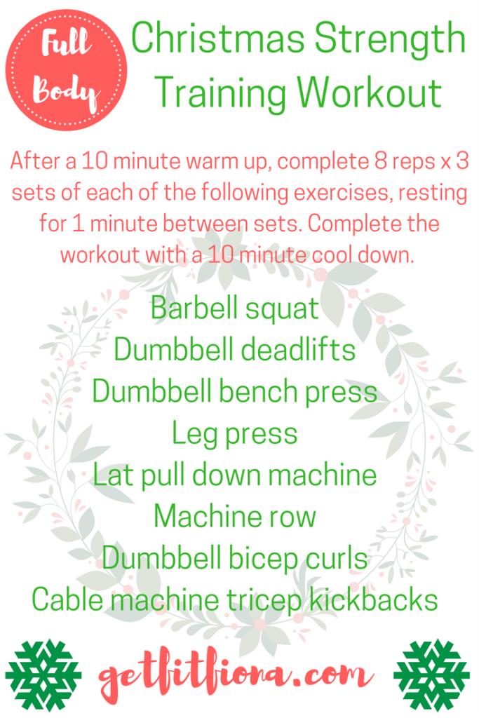 Full Body Christmas Strength Training Workout
