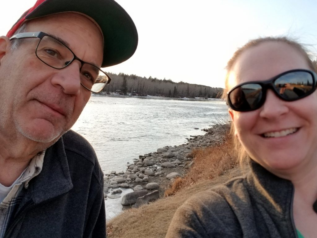 Heather and Dad Selfie in Bowmont