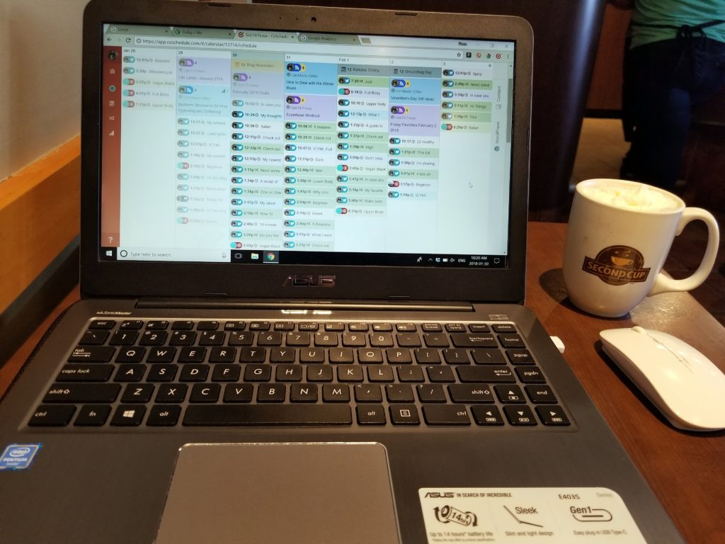 Blogging at Second Cup