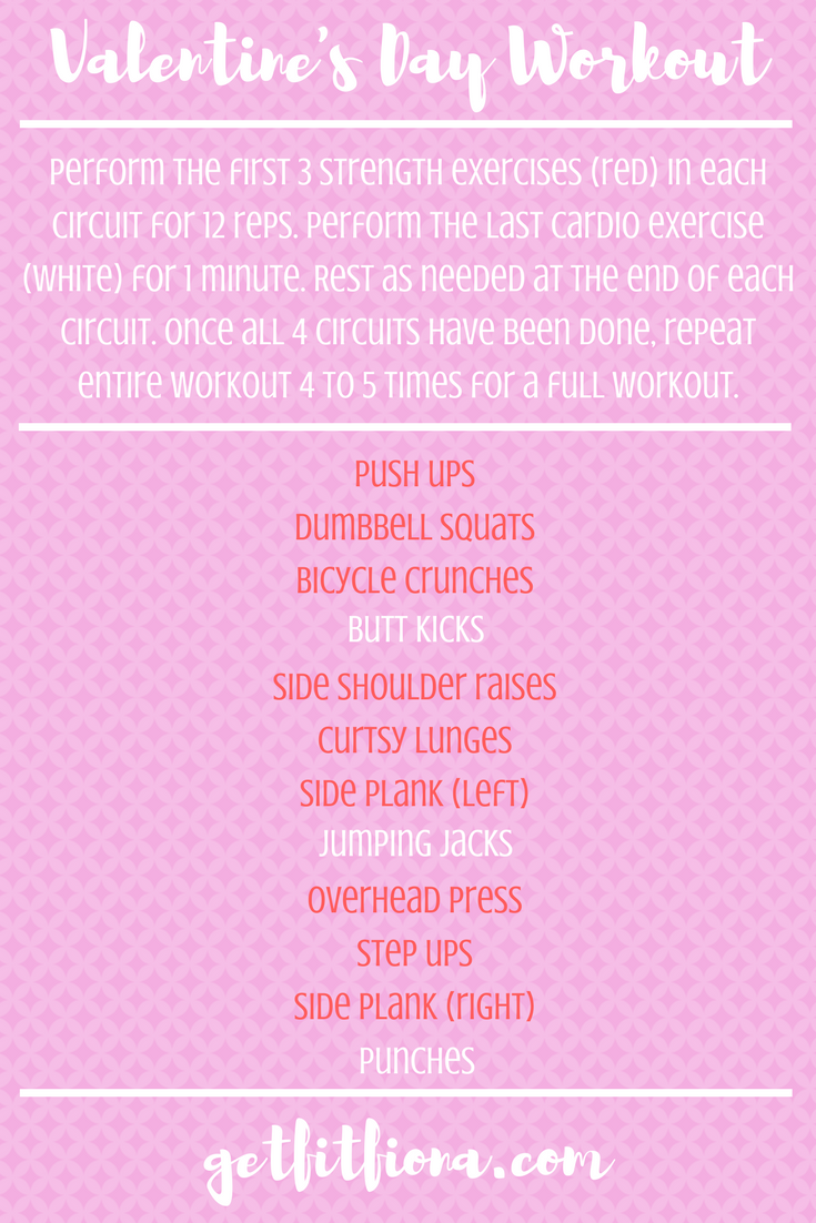 Valentines Day Circuit Workout To Get You Sweaty At Home Or The Gym Holiday Jump And Jack Cardio