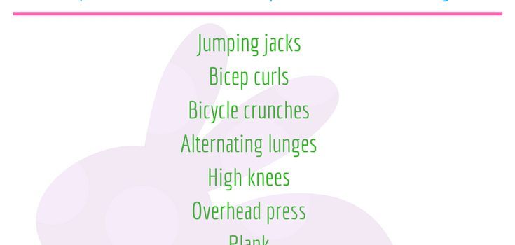 Hippity Hop Easter Workout