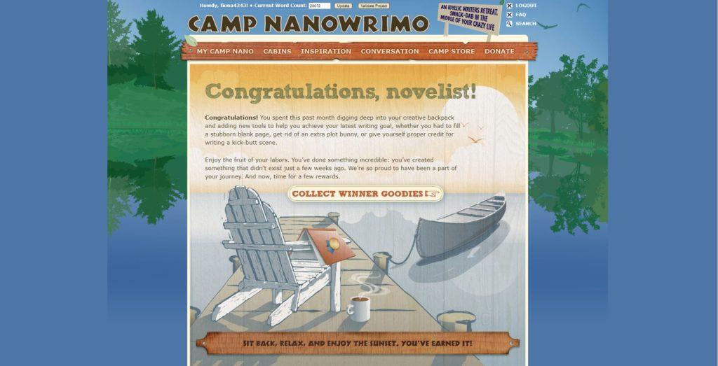 Camp NaNoWriMo Win