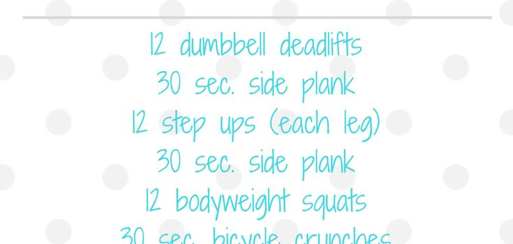 Lower Body and Core Circuit Workout