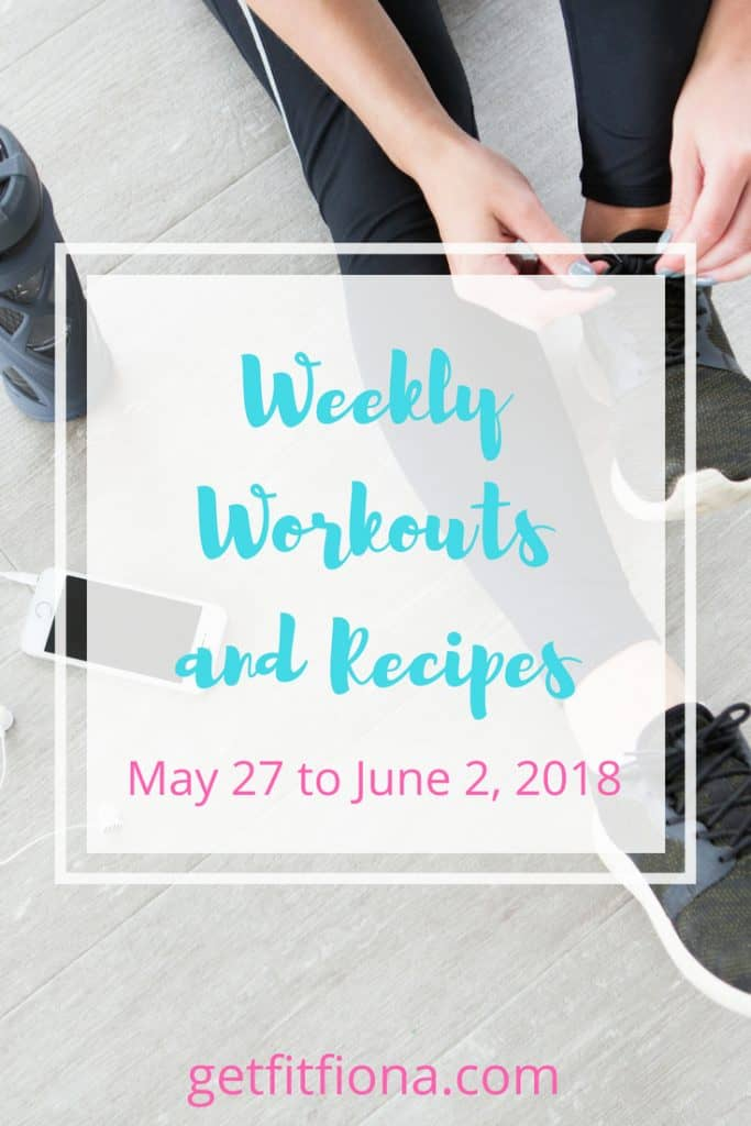 Weekly Workouts and Recipes June 2 2018