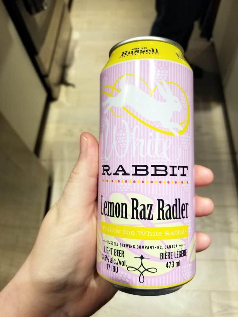 White Rabbit Lemon Raz Radler