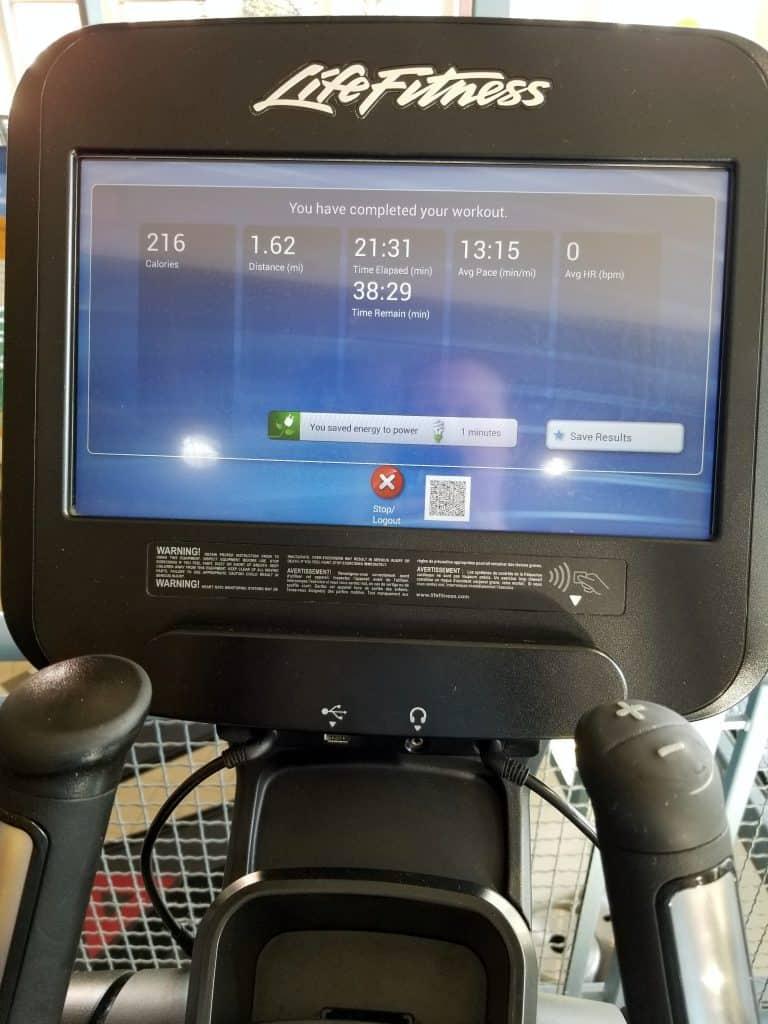 Elliptical and Bike Workout