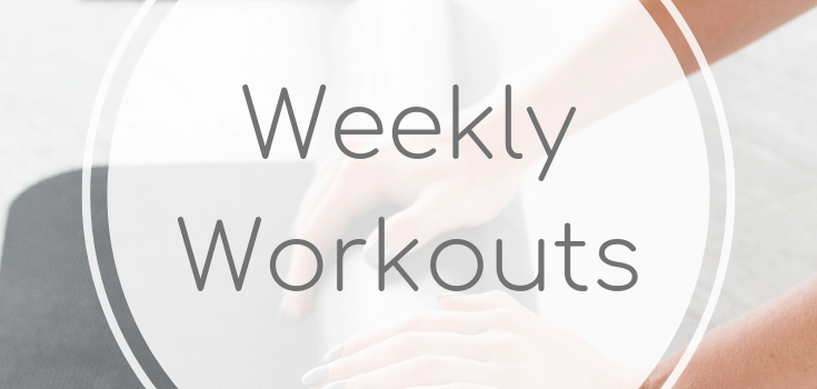 Weekly Workouts April 6 2019